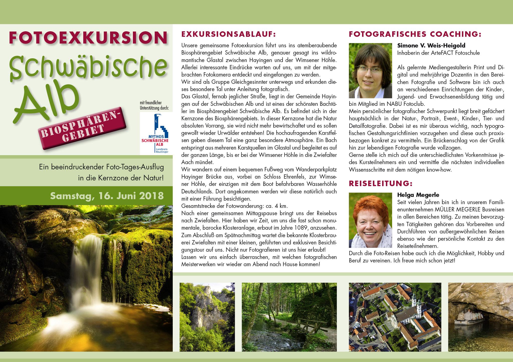 Fotoexkursion Biosphärengebiet Schwäbische Alb