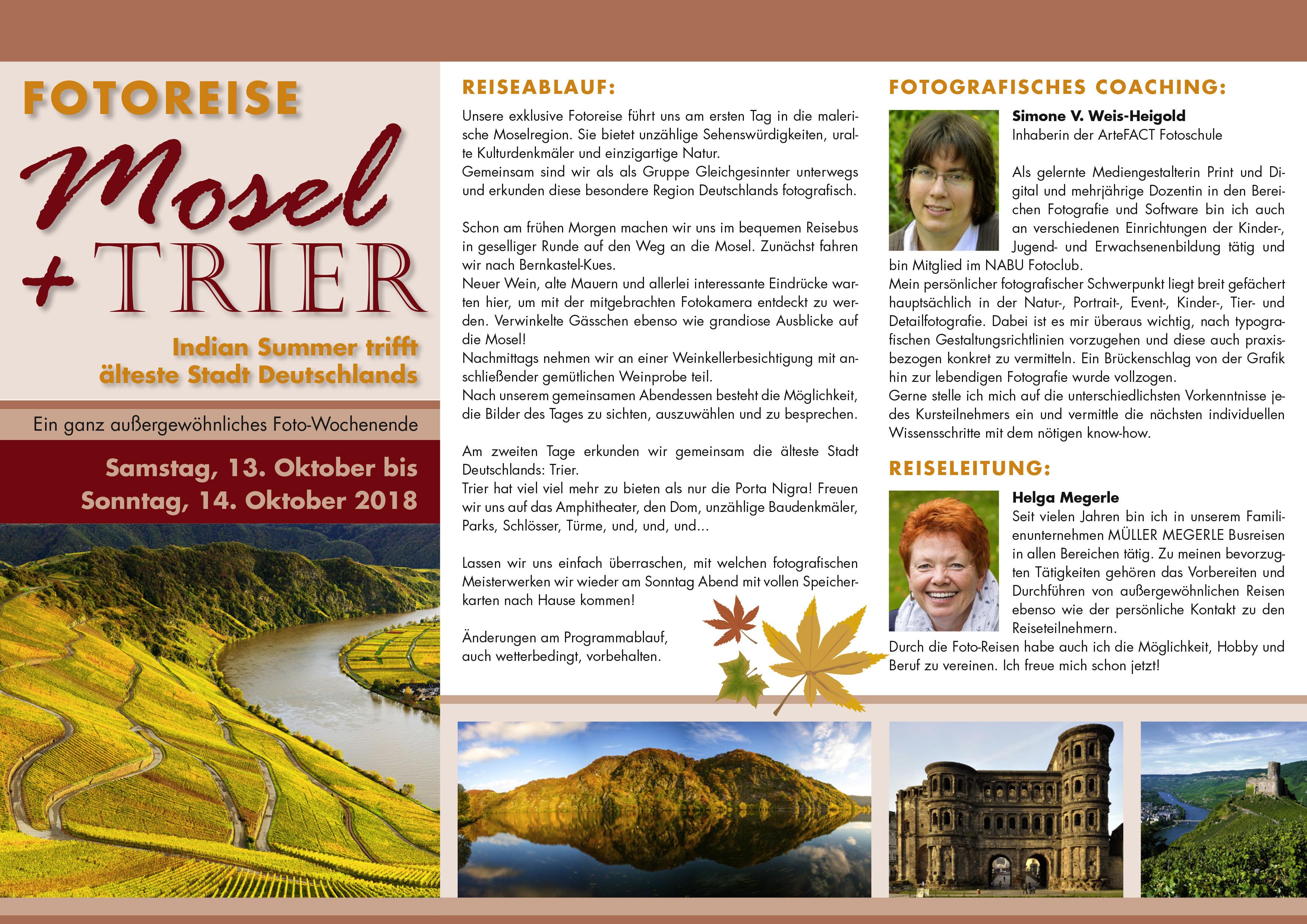 Fotoreise MOSEL und TRIER
